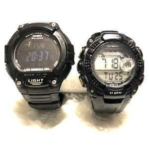 Black Armitron and Casio Watches